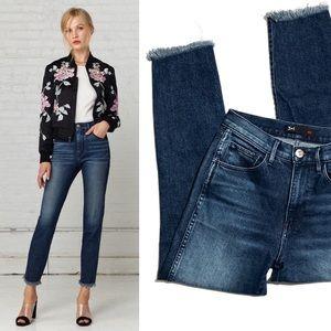 3x1 NYC | straight authentic crop raw hem jeans
